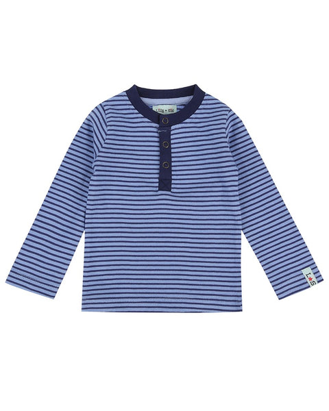 Henley Stripe Top