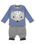 Applique Badger Flannel Set