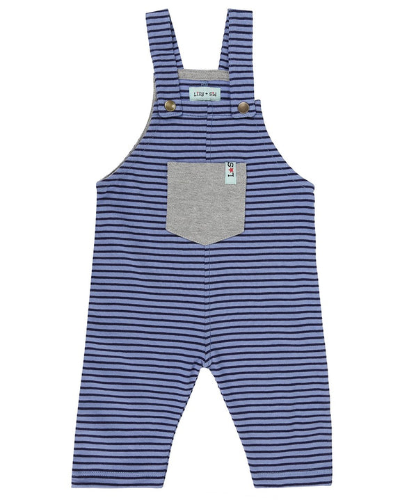 Jersey Stripe Dungaree Blue