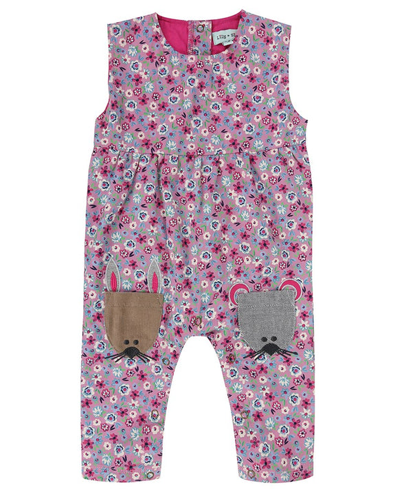 Animal Pocket Ditsy Dungaree