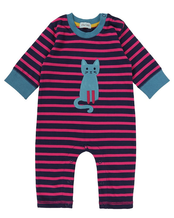 Applique Playsuit- Pretty Kitty