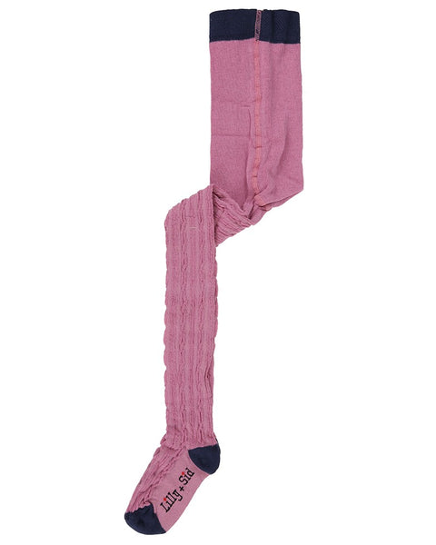 Cable Tights - Pink