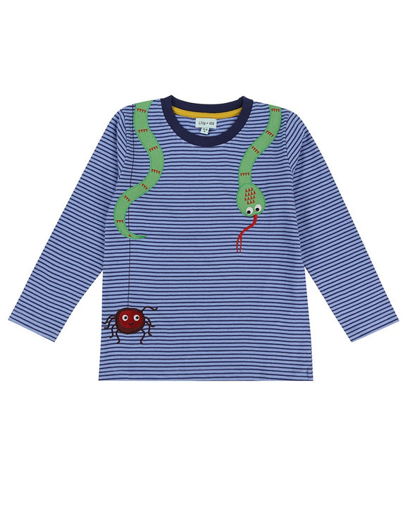 Hidden Creatures Applique Top
