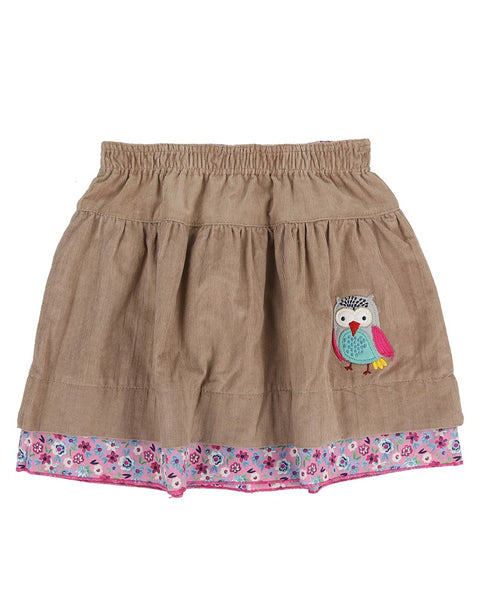 Reversible Skirt- Ditsy/Fawn Cord