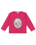Owl Applique Top- Pink