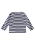 Cat Applique Top- Navy Stripe