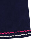 Unicorn Applique Pini - Navy Cord