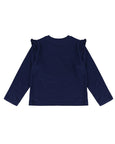 Gingerbread Applique Top- Navy