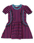 Corset Is Dress- Pink/ Navy Stripe