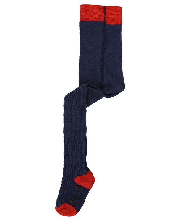 Cable Tights - Navy