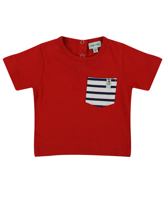 Classic Pocket T- Red