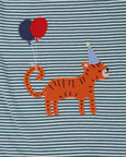Applique Stripe Romper- Tiger