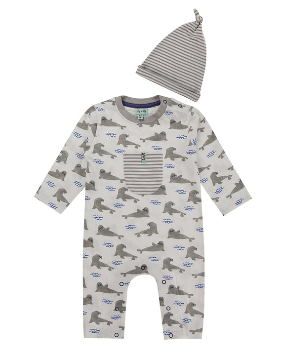 Seal Playsuit/Hat Set