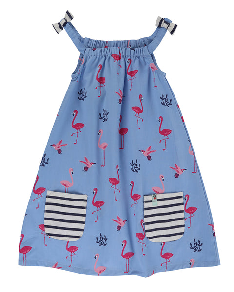 Strappy Dress- Flamingo Print