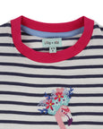 Applique Top- Flamingo