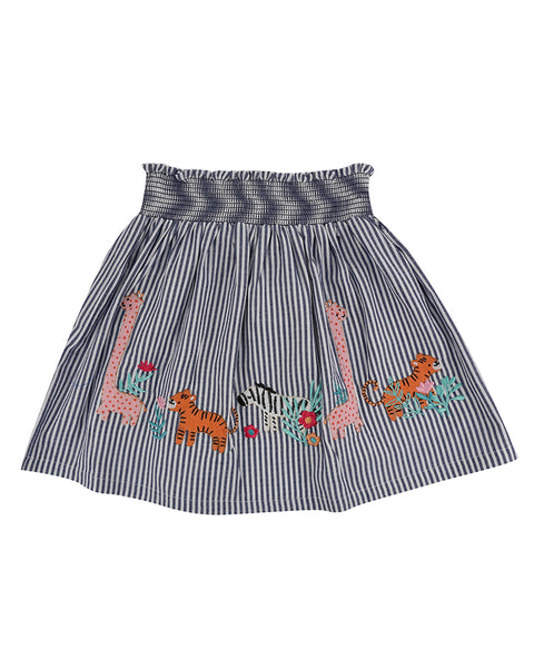 Applique Hem Skirt- Safari