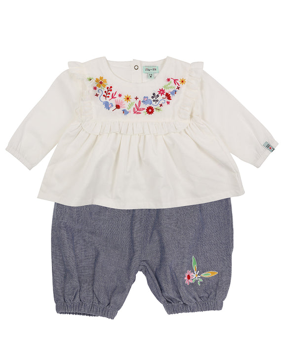 Woodland Embroidery Bloomer Set