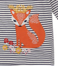 APPLIQUE STRIPE TOP - FOX QUEEN