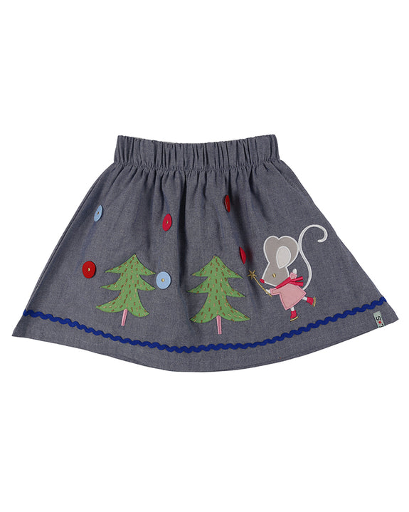CHAMBRAY MOUSE SKIRT