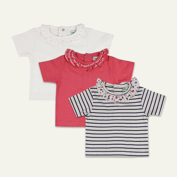 3PK ESSENTIALS TOP (WHITE/PINK/STRIPE)
