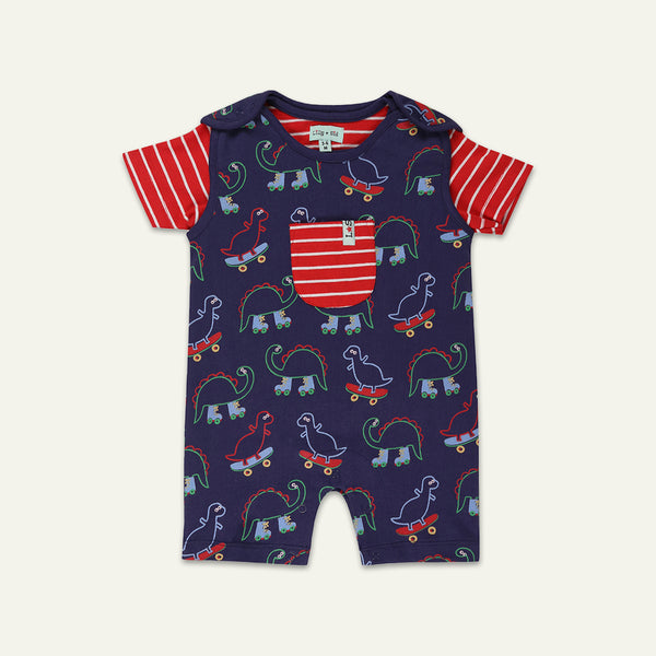 DINO DUNGAREE SET