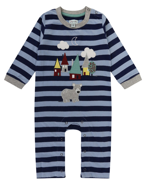 Bear House Applique Playsuit