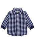 Woven Check Shirt/Cord Reversible Set