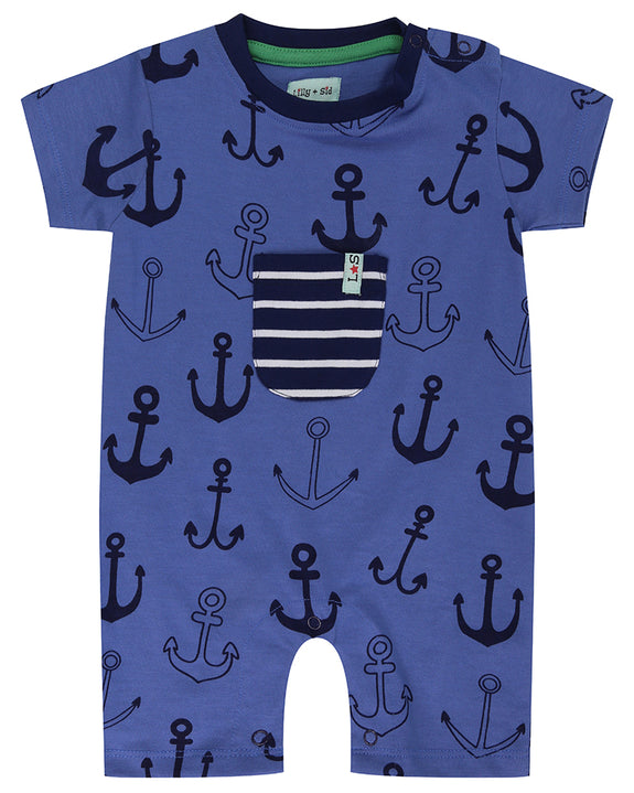 Jersey Romper- Anchor Print