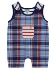 Shortie Dungaree Set- Woven Check