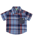 3Pc Shirt Set- Chambray Check