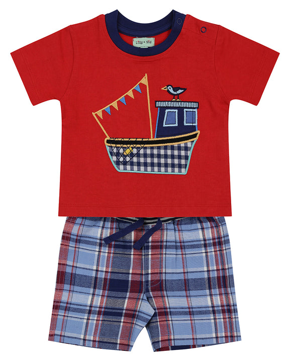 Applique Short Set- Ship Check