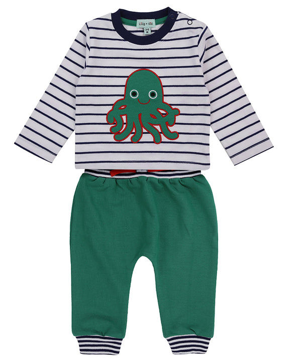 Applique Jogger Sweat- Octopus Sweat Stripe