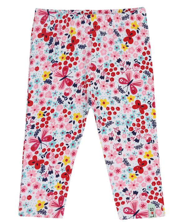 Cropped Butterfly Florals Legging