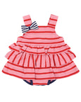 Jersey Sunnysuit- Pinks Stripe