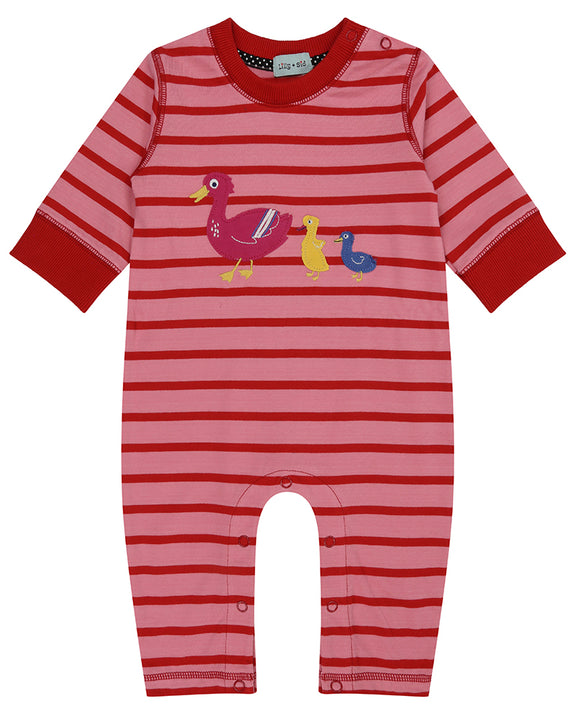 Applique Playsuit- Duck Family