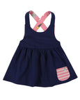 Reserse Pini Dress- Swan/Navy