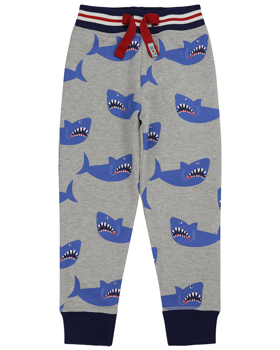 Printed Joggers- Sharks