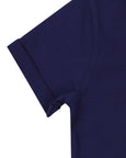 Check Pocket T- Navy