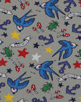 Pocket Print T- Tattoo Birds
