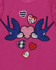 Applique Vest Top- Love Birds