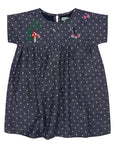 Embroidered Shift Dress- Country Garden