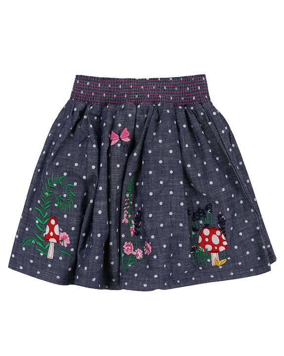 Applique Hem Skirt- Country Garden Embroidery