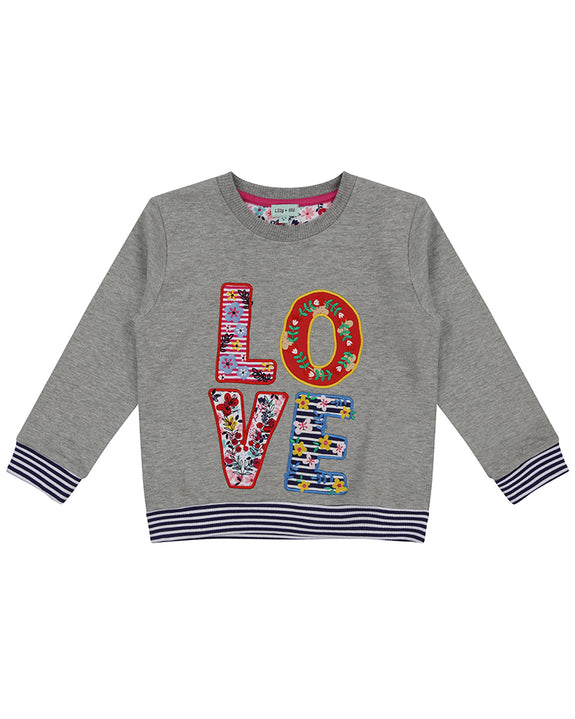Applique Sweatshirt- Love