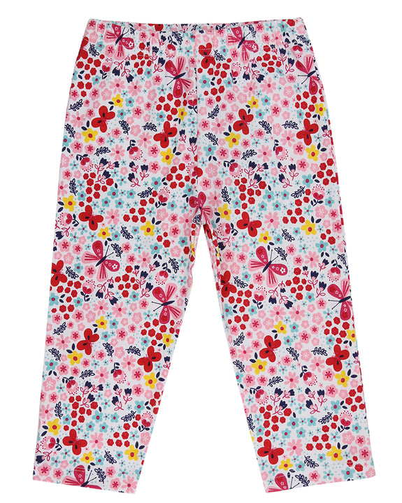 Cropped Leggings - Butterfly Florals