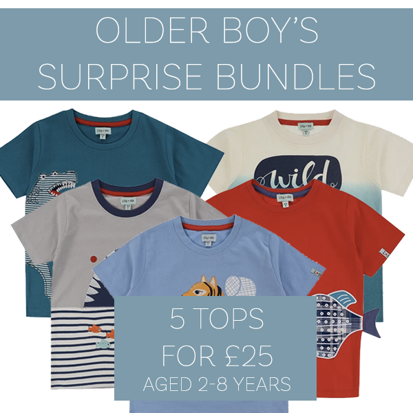 5 Boys tops for £25