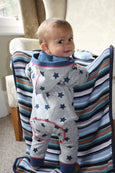 Baby Boys Hooded All In One Baby Suit