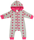 Baby Girls Pink Heart Outersuit