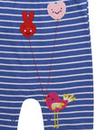 Smocked Applique Playsuit- Balloon Birdie