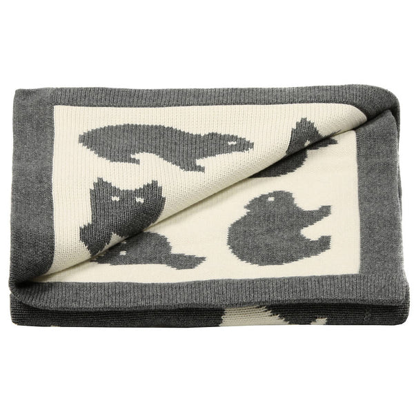 Luxury Knitted Forest Friends Baby Blanket