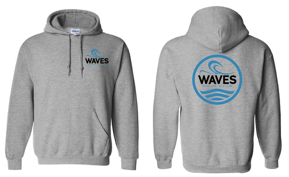 Waves Swim Team Hooded Sweatshirt